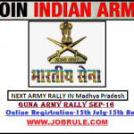 Upcoming Madhya Pradesh Guna Sidhi Sena Bharti Rally September 2016 Registration