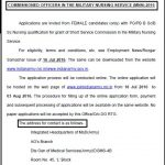 Indian Army Commissioned Officers Recruitment in MNS 2016