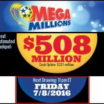 Mega Million Next Estimated Jackpot $508 Million Draw