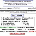 Murshidabad District Latest 142 Various Panchayat Job August 2016