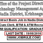 Nadia District ATMA Project Latest Contractual Job 2016