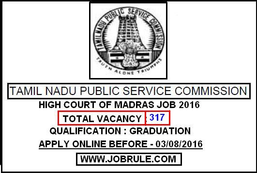 TNPSC 327 Court Job