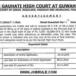 Gauhati High Court 20 Judicial Assistant Job Advertisement