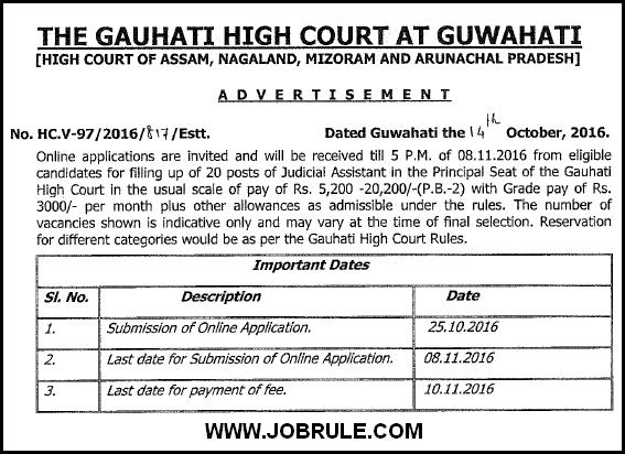 guwahati-high-court-job-2016