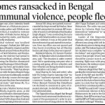 Communal Tension Arise in West Bengal