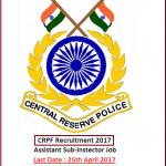 CRPF 211 ASI (Steno) Recruitment 2017