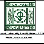 Kalyani University B.A/B.Sc/B.Com Part-3 Result 2017