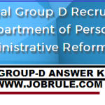 WBGDRB Group D Recruitment Answer Key & Cut Off Marks