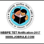 WBBPE Primary TET 2017 Notification
