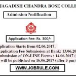 AJC Bose College Online Admission Merit List 2017-2018