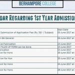 Berhampore Commerce College Online Admission 2017