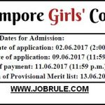 Berhampore Girls' College Online Admission 2017