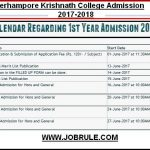 Berhampore KN College Online Admission & Merit List 2017