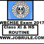 WB HS & Class XI Examination New/Modified Routine 2018