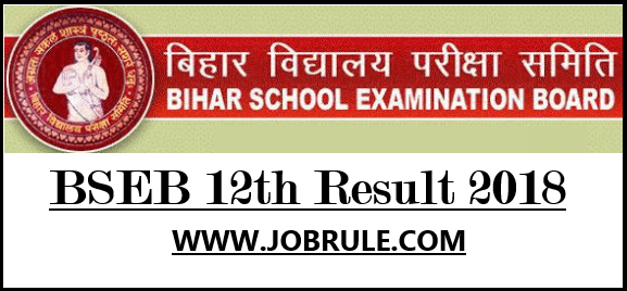 Bihar Board Class 12th Final Result 2018