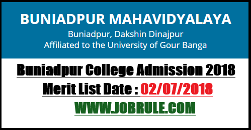 Buniadpur College Admission
