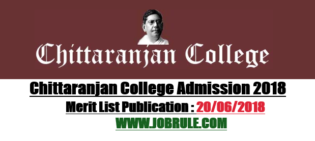 Chittaranjan College Merit List 2018