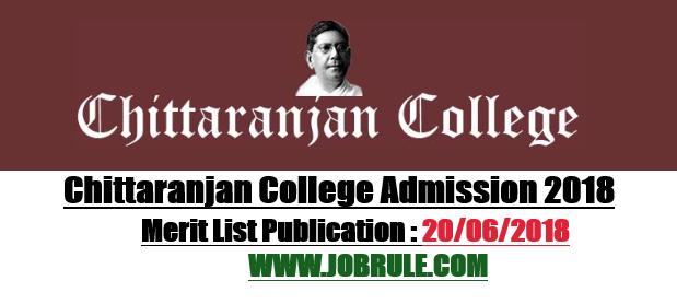 Chittaranjan College Merit List 2018