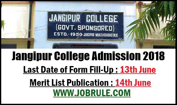 Jangipur College Merit List 2018