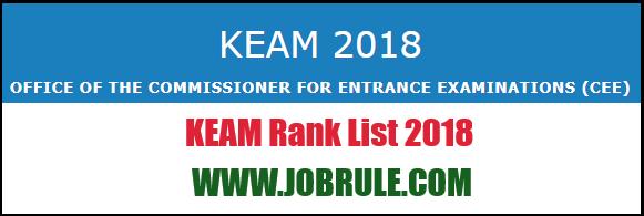 KEAM Result 2018