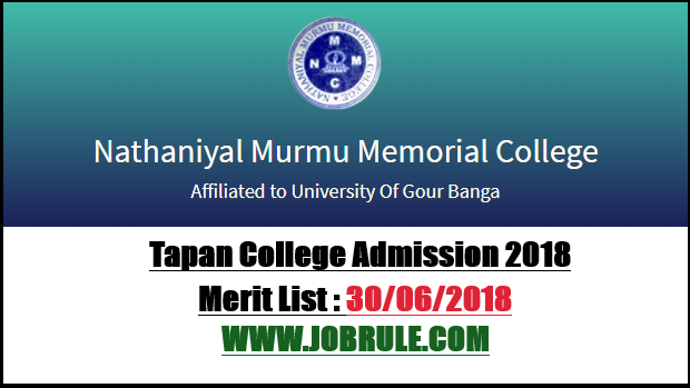 Tapan College Admission